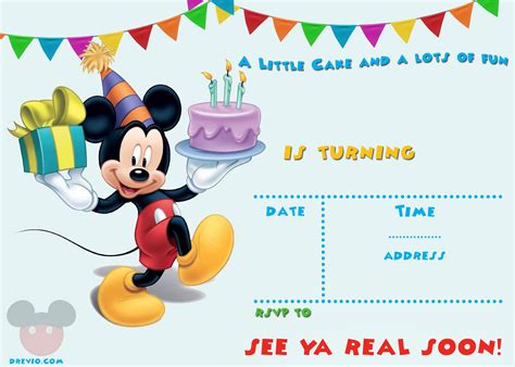 Mickey Mouse Invitations Template by Free Printable Mickey Mouse Invitation Template