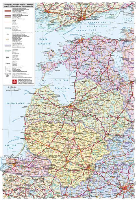 Baltijas valstis. Mazā autoceļu karte - Karšu izdevniecība ...