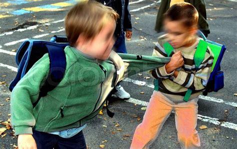 Fighting Kids School Stock Photo Colourbox