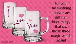 simply awesome 3rd wedding anniversary gift ideas for husband With third wedding anniversary gift ideas