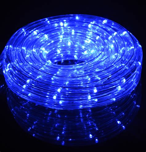 blue fairy led outdoor string rope light 33ft clear tube
