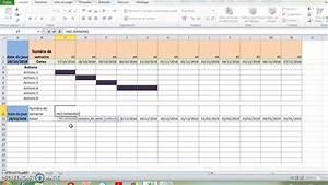 Diagramme De Gantt  Excel  Planification  Organiseur