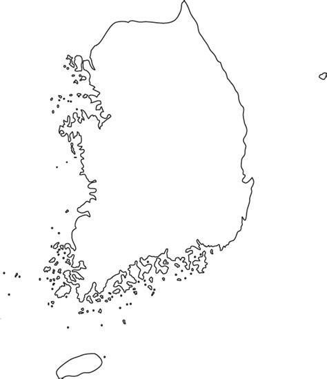 south korea outline map