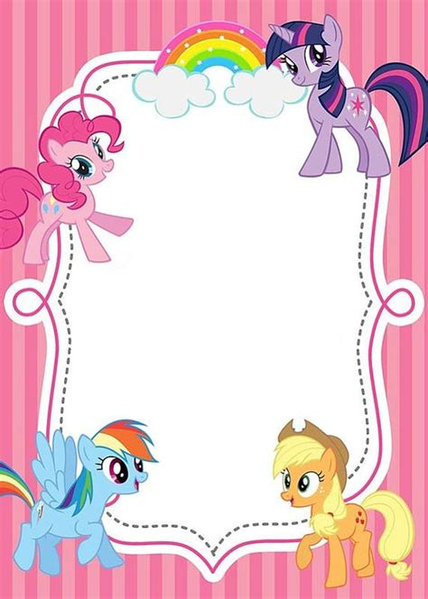 pony  printable invitation templates
