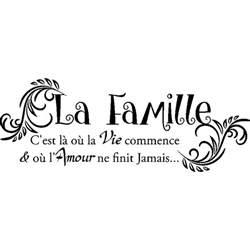 Ma Vie En Italien by Sticker Citation La Famille Stickers Citations Fran 231 Ais