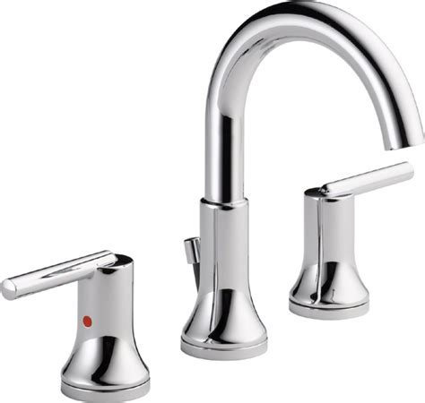 Delta Trinsic Faucet Bathroom by Delta 3559 Mpu Dst Trinsic 8 In Widespread 2 Handle High