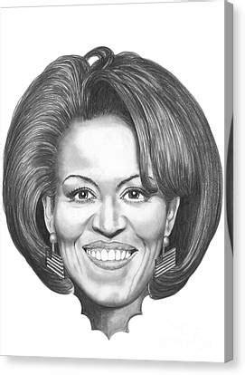 Michelle Obama Drawing by Murphy Elliott