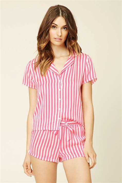 P114 Stripe Pajamas Set stripe shirt pj set en 2019 pijamas