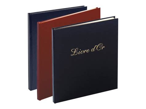 bureau vallee agathon exacompta livre d or 190 x 210 mm balacron disponible dans diff 233 rentes couleurs livres