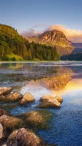 Lake, Obersee, Under, Sunlight, N, U00e4fels, Mount, Brunnelistock