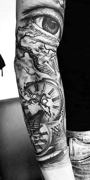 80 Clock Tattoo Designs For Men - Timeless Ink Ideas   Tattoos   Tattoo ideen