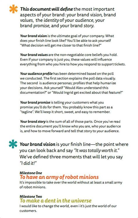 brand strategy templates word excel