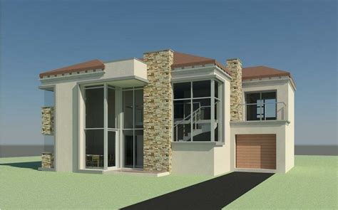 bedroom double storey house plans  south africa house storey