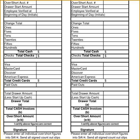cash  sheet template fabtemplatez