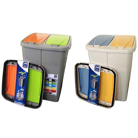 poubelle de cuisine tri selectif poubelle de tri sélectif cuisine 2 compartiments 2 x 22 5