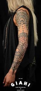 Skull And Rose Sleeve Designs Meditation Dotwork Sleeve By Andy Cryztalz Best