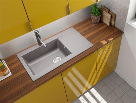 lavello incasso cucina lavandino lavello incasso cucina mineralite 86 x 50 grigio