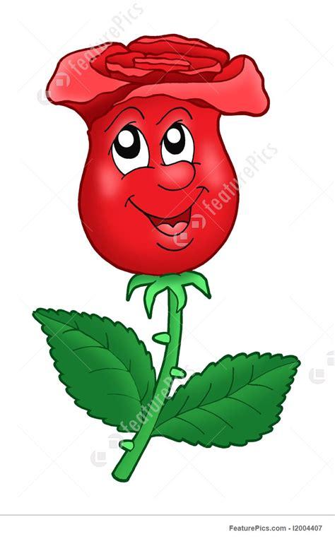 illustration  smiling rose
