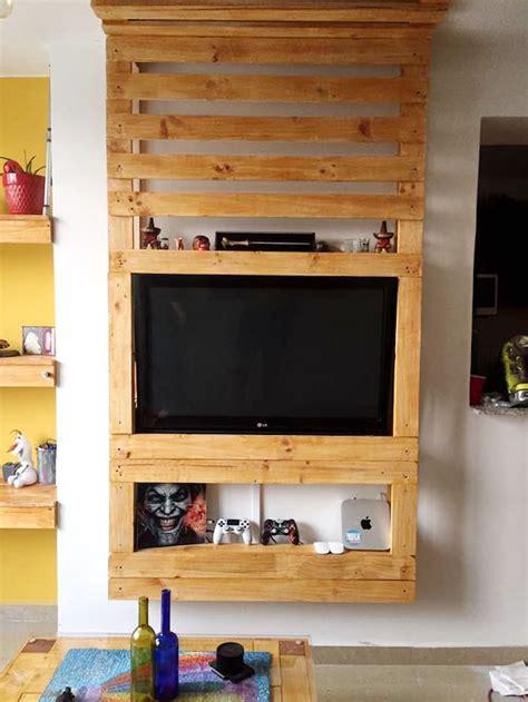 idees meuble tv palette le recyclage en chaine