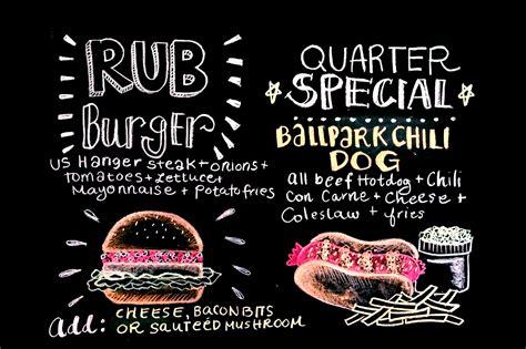 chalkboard menu typography  behance
