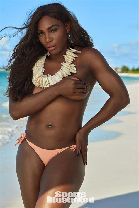 ashley williams swimsuit serena williams goes topless in 2017 sports illustrated