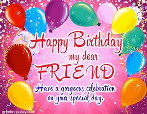happy birthday my dear friend free ecards