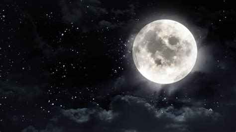 Animated Moon Wallpaper - beautiful moon shine with and clouds looped