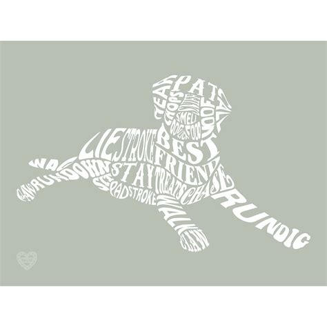 typographic dog word art print by mimi mae notonthehighstreet com