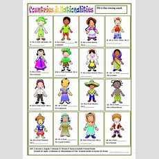 Countries & Nationalities Worksheet  Free Esl Printable Worksheets Made By Teachers