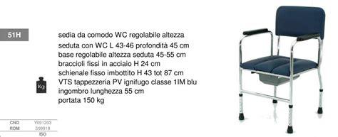 Poltrona Da Ufficio Portata 150 Kg : Sedia Da Comodo Fissa Con Wc Su Piedini, Regolabile In