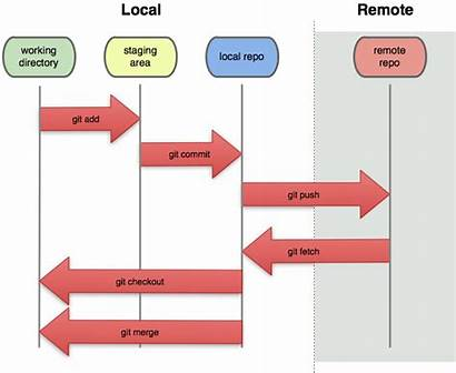 Git Things Remote Local Repository Reside States
