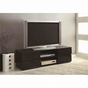 Coaster 700841 Black Wood TV Stand - Steal-A-Sofa