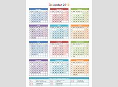 Printable 2019 Calendar with Indian Holidays & Festivals
