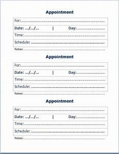free printable appointment cards templates search With medical appointment card template free