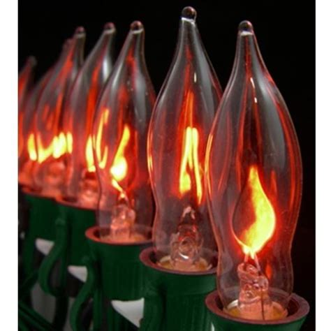 3pc e12 flickering candelabra light bulbs 3w