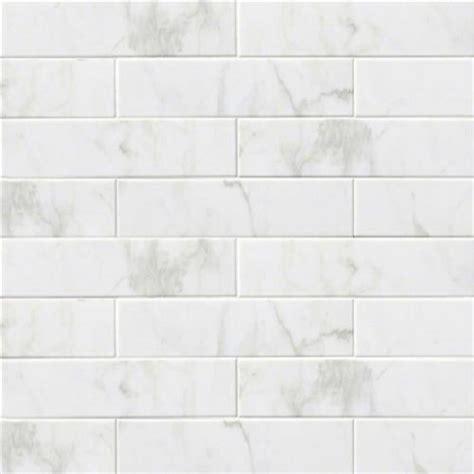 OUR Subway Backsplash Tile Ceramic, Glossy White Carrara
