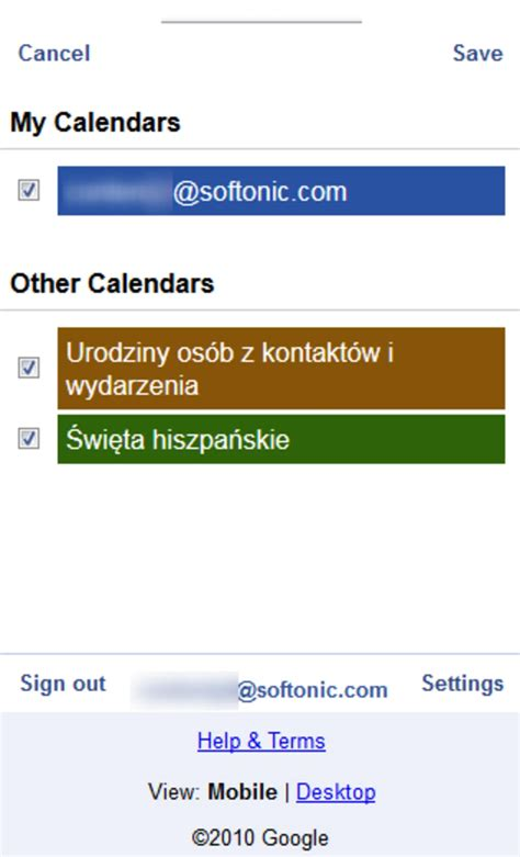 google calendar calendar mobile