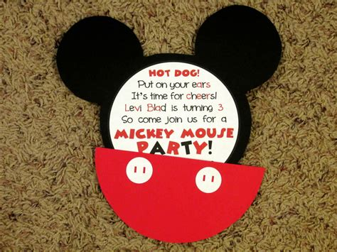 mickey mouse invitations love     kitchen