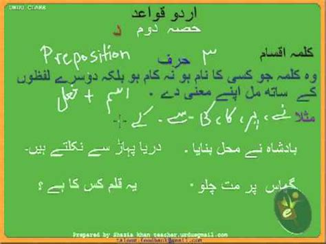 Urdu Grammar Part 2 (d) Harf Youtube