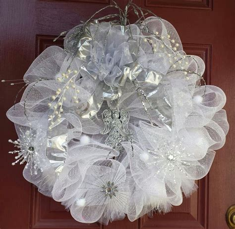 17 Best Images About Wedding Mesh Wreaths On Pinterest