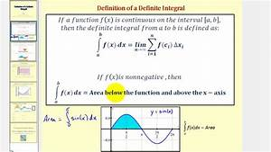 The Definition Of The Definite Integral
