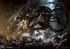 Alien vs Predator by daRoz on DeviantArt