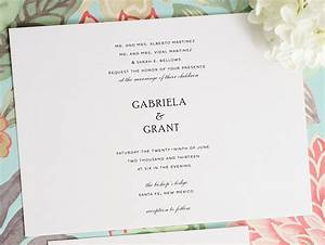 Wedding invitation wording simple yaseen for for Simple wedding invitations with pictures
