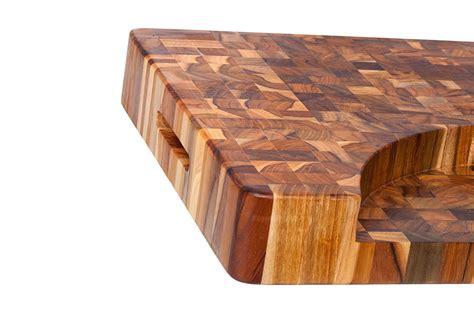 teak butcher block teak haus end grain cutting board with bowl cutout