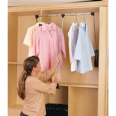 pull  closet rod  wall cabinet richelieu hardware