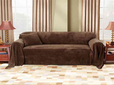 sure fit furniture covers sure fit plush sofa throw cover home furniture design