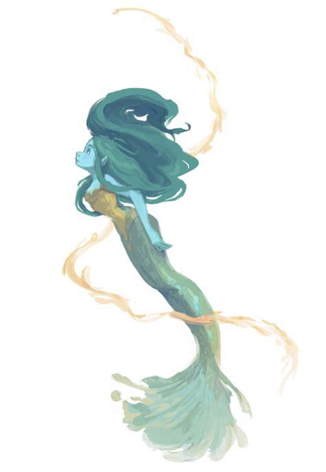 orange mermaid tail tumblr