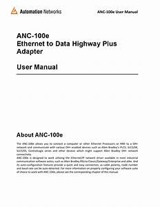 Anc 100e Rslinx Ethernet Ip To Dh User Manual Revm3a2