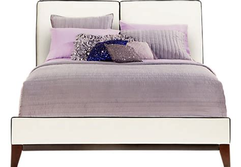 sofia vergara adonia white  pc upholstered queen bed queen beds colors