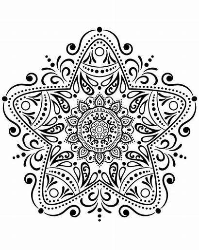 Mandala Coloring Star M13 Pages